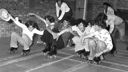 Stowmarket Roller Skating Club in August 1977 Picture: ARCHANT