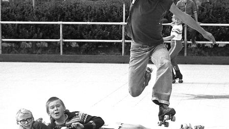 Roller skating fun at Dovercourt Skating Club in August 1979 Picture: ARCHANT