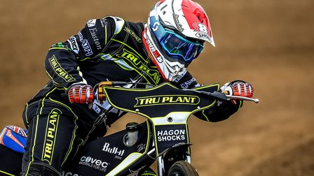 Jason Crump, on track during during the Witches press day on 18 March 2020. He will be riding in the