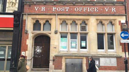 The historic Cornhill post office in Bury St Edmunds town centre dates back to 1896. Picture: MICHAE