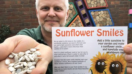 Jason shared sunflower seeds with his neighbours during the coronavirus lockdown Picture: JASON ALE