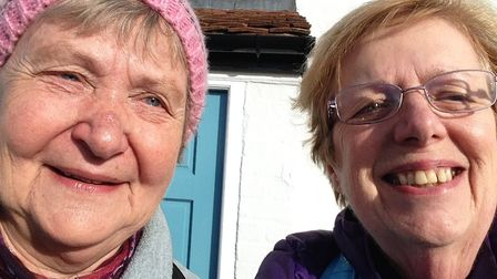Rosemary Jewers, right, and her walking companion Rina Adams will be tracing the ancient Roman route