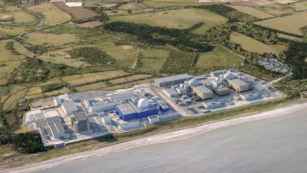 A CGI of what the Sizewell C nuclear power station would look like Picture: EDF Energy