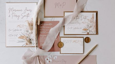 An example of some of the bespoke, handmade wedding stationery that Gemma creates Picture: Sharon Cu