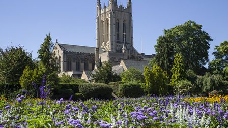 St Edmundsbury Cathedral in Bury St. Edmunds, one the stunning churches that can be seen on The Towe