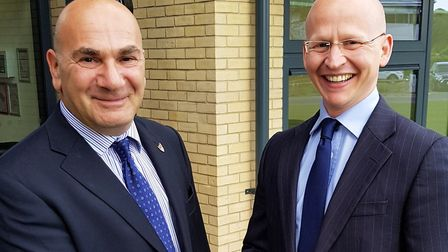 East Suffolk Council leader Steve Gallant (left) with his deputy Craig Rivett said they recognised c