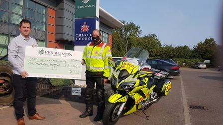 Persimmon Homes has given £1,000 each to Capel Parish Nurses and SERV Suffolk and Cambridgeshire. Pi