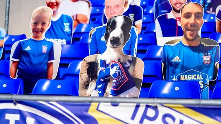 Fans can have cardboard cut-outs at Portman Road if they wish - and it seems that's as close as they