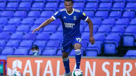 Corrie Ndaba made his senior debut for Ipswich Town against Bristol Rovers in the Carabao Cup. Photo