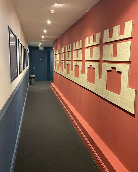 The donor wall was designed by local wood carver John Williams Picture: ABBEYGATE CINEMA
