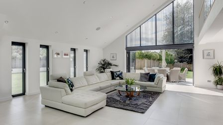 This sleek and contemporary four-bedroom home in Corton near Lowestoft is on the market at a guide p