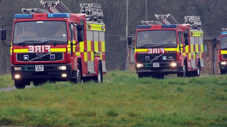 Firefighters battled a shed blaze in Dedham Picture: ARCHANT