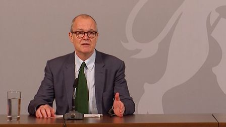 The government's chief scientific adviser Sir Patrick Vallance spoke at a Downing Street briefing to