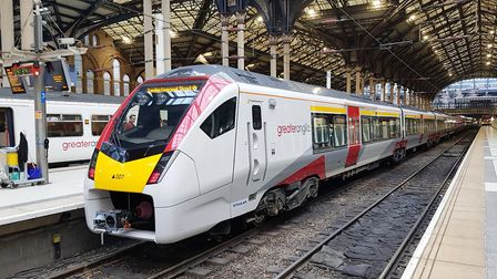 A Greater Anglia train at London's Liverpool Street Station. Picture: GREATER ANGLIA