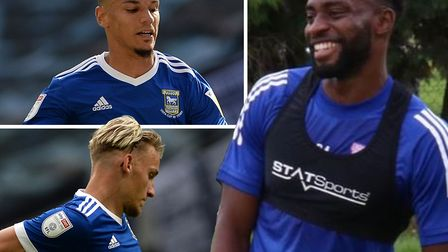 Kane Vincent-Young, Kayden Jackson and Luke Woolfenden are currently out of action. Picture: ITFC/PA