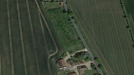 The scheme to build five homes in Otley has been blocked Picture: GOOGLE EARTH