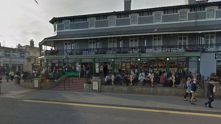The pedestrians were struck by the car following a fight near the Moon and Starfish pub Picture: GO