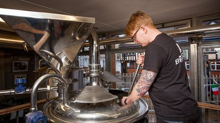Rob Pyke brewing beer Picture: Gavin King Photography