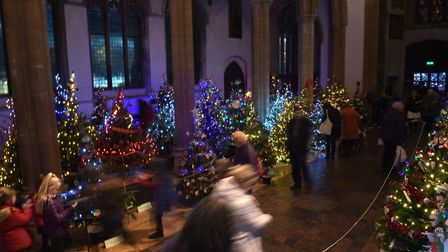 The Sudbury Christmas Tree Festival in 2018 Picture: SARAH LUCY BROWN
