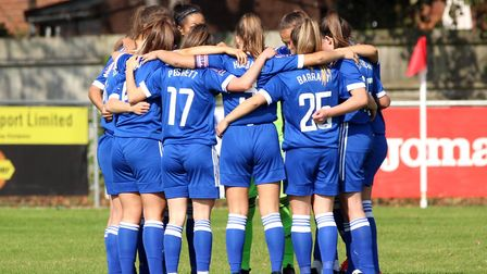 Ipswich Town Women are ready to take on the new season Picture: ROSS HALLS