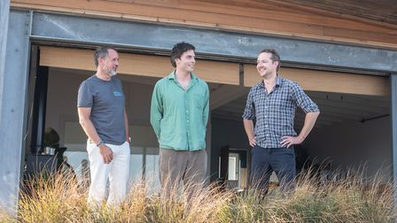 CEO Christian Hamilton, Owner Andrew Heald, Distiller Ben Bewley -Pope Picture: SARAH LUCY BROWN