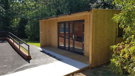 Healthcare Homes' garden pod at Haughgate House, Woodbridge Picture: HEALTHCARE HOMES
