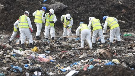 One of the searches at the landfill site in Cambridgeshire Picture: ARCHANT