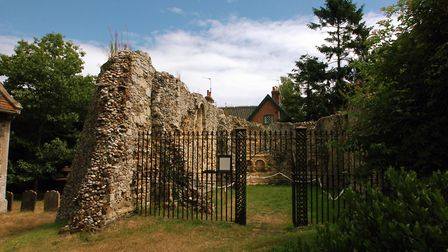 EADT The Chapel of St James Hospital in the grounds of Dunwich Church. Picture by Jerry Turner.