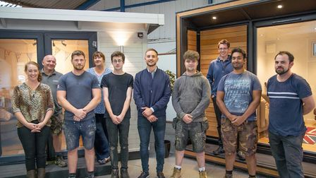 New recruits with managers at Smart Garden Rooms, Offices & Studios Picture: SMART