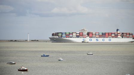 A view from Harwich port. Councillors for the Essex town have warned of problems there following Bre