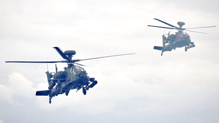 Apache helicopters were spotted over Rendlesham for several hours. Stock image Picture: SU ANDERSON