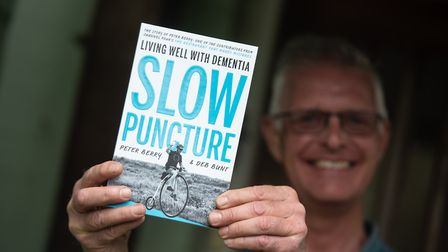 Peter Berry with his new book, Slow Puncture, which is an emotional account of what it is like to li