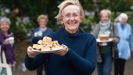 Anne McFadyen at the Macmillan Coffee morning in Somersham Picture: SARAH LUCY BROWN