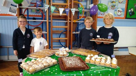 Lily & Teddy Palmer and Gabriel & Kit Roche at the Bawdsey Primary School Coffee Morning Picture: B