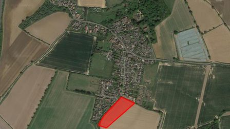 A plot of land with plans for 33 homes in Bucklesham has been put up for sale for �1.5million. Pictu