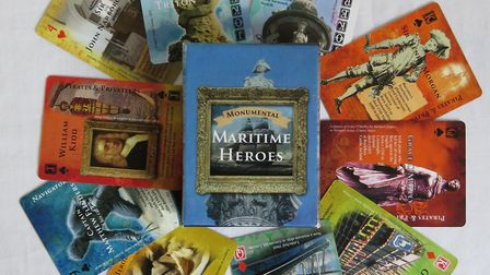 Monumental Maritime Heroes - Cathy Shelbourne's 52-card deck that explores some of the Britain's mos