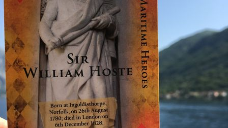 The Sir William Hoste card - the first figure that inspired Cathy to create her deck Picture: Cathy