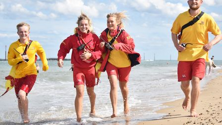 Siblings George, Emma, Laura and Jack Griffin were RNLI Lifeguards on duty at Sea Palling beach in 2