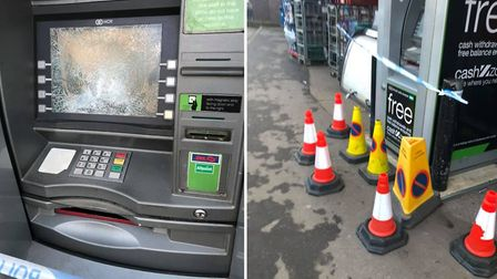 Smashed cash point. Picture: Chris Clarke