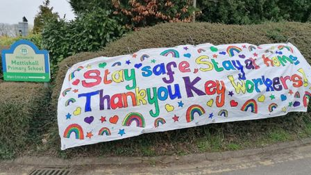 Children of key workers and staff from Mattishall Primary School have been busy creating a special b