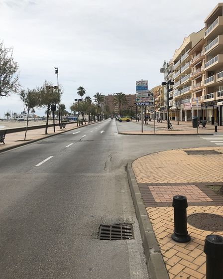 The scene from Fuengirola, Spain during the coronavirus pandemic. Picture: Brian Powter