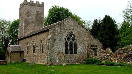 St Andrew's church in Thurning has received a funding boost to help pay for roof repairs. Picture: N