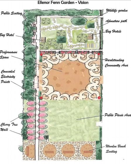 Vision for public open space and pocket park scheme in Dereham. Pictures: Breckland Council planning