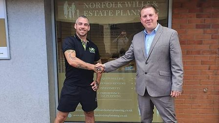 Ross Ratcliffe (right) is the owner of Norfolk Wills and Estate Planning and has opened an office in