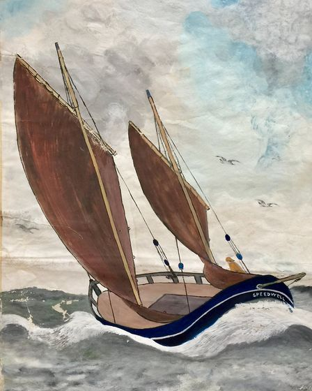 One of the John Craske watercoours featured in a collection of work by the famous fisherman held by