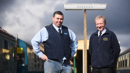 Mid-Norfolk Railway general manager George Saville, left, and chairman of the railway's chairman Cha