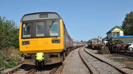 The Mid Norfolk Railway's second Pacer unit at Dereham. Picture: Mid Norfolk Railway