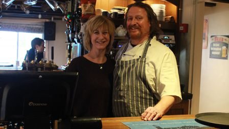 Bev and Steve Kembery, who run The Burston Crown, are offering to deliver supplies and meals. Pictur