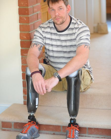 Duncan Slater who was injured in Afghanistan whilst serving with the Armed Forces. Picture: Duncan S