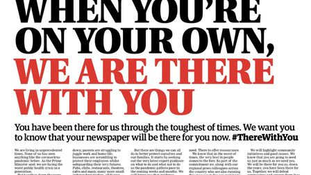 The Norwich Evening News has joined other regional newspapers to let people know we are there with y